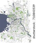 vector map saint petersburg ... | Shutterstock .eps vector #710843539