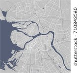 vector map saint petersburg ... | Shutterstock .eps vector #710843560