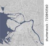 vector map saint petersburg ... | Shutterstock .eps vector #710843560