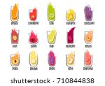 vector collection of hand drawn ... | Shutterstock .eps vector #710844838