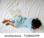 child pee on a mattress  little ...   Shutterstock . vector #710846599