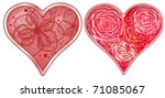 vector set of stylized hearts.... | Shutterstock .eps vector #71085067