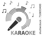 karaoke  microphone  microphone ... | Shutterstock .eps vector #710853400