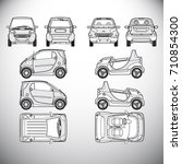automobile.template for graphic ... | Shutterstock . vector #710854300