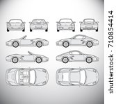 automobile.template for graphic ... | Shutterstock . vector #710854414