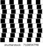 optical illusion in black  ... | Shutterstock .eps vector #710854798