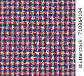 abstract splash mottled checked ... | Shutterstock .eps vector #710864104