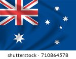 australia flag background with... | Shutterstock .eps vector #710864578