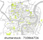 map of the city of chongqing ... | Shutterstock . vector #710866726