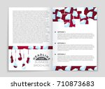 abstract vector layout... | Shutterstock .eps vector #710873683