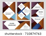 abstract vector layout... | Shutterstock .eps vector #710874763