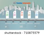 business road map timeline... | Shutterstock .eps vector #710875579