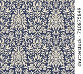 seamless damask wallpaper.... | Shutterstock .eps vector #710875849