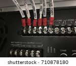 sound cable link zone system... | Shutterstock . vector #710878180