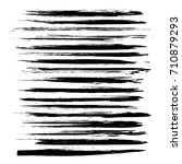 Black long brush strokes isolated on a white background