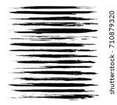 black abstract long thin brush... | Shutterstock .eps vector #710879320