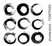 black circle vector brush... | Shutterstock .eps vector #710879350