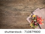 Oak Wooden Background With...