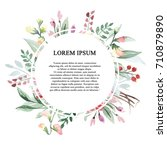 invitations card. watercolor... | Shutterstock . vector #710879890
