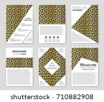 abstract vector layout... | Shutterstock .eps vector #710882908
