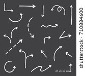 vector hand drawn simple arrows ...   Shutterstock .eps vector #710884600
