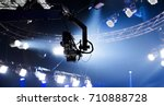 camera record on crane in... | Shutterstock . vector #710888728
