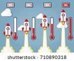 illustration of flying rocket... | Shutterstock .eps vector #710890318