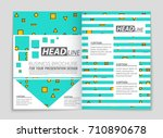 abstract vector layout... | Shutterstock .eps vector #710890678