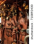 steam locomotive controls ... | Shutterstock . vector #710892430