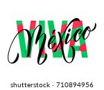 viva mexico lettering for... | Shutterstock .eps vector #710894956