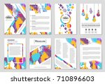 abstract vector layout... | Shutterstock .eps vector #710896603