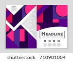 abstract vector layout... | Shutterstock .eps vector #710901004