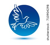 dove vector logo template.... | Shutterstock .eps vector #710904298