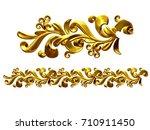 golden  ornamental segment  ... | Shutterstock . vector #710911450