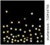 christmas sparkles  gold ... | Shutterstock .eps vector #710914750