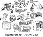 PC icons - stock vector
