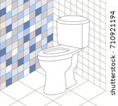 vector toilet room with white... | Shutterstock .eps vector #710921194