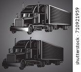vintage american truck vector...   Shutterstock .eps vector #710921959