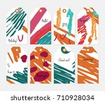 hand drawn creative tags.... | Shutterstock .eps vector #710928034
