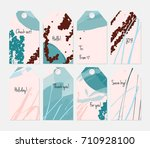 hand drawn creative tags.... | Shutterstock .eps vector #710928100