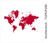 map red of... | Shutterstock .eps vector #710929180