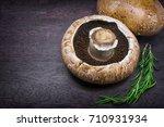 Pair Of Portobello Mushroom On...