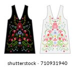 embroidery flowers for fashion... | Shutterstock .eps vector #710931940