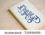 calligraphic background with... | Shutterstock . vector #710934550