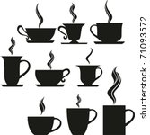 set of coffee and tea cups.... | Shutterstock .eps vector #71093572