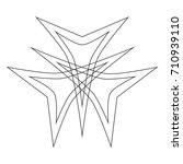 geometric pattern symbols... | Shutterstock .eps vector #710939110