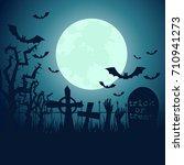 halloween poster. invitation... | Shutterstock .eps vector #710941273