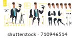 stylized characters set for... | Shutterstock .eps vector #710946514