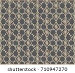 geometric pattern vector design ... | Shutterstock .eps vector #710947270