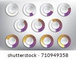 loading spinners or progress... | Shutterstock .eps vector #710949358